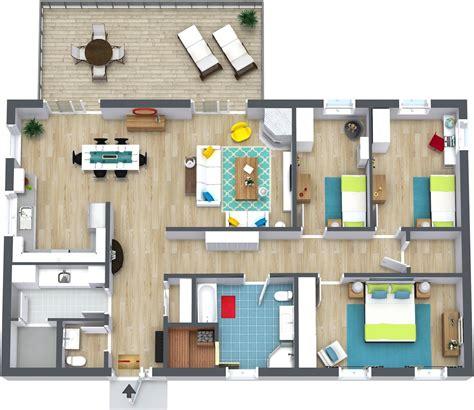 3 bedroom home plans 3 bedroom floor plans roomsketcher