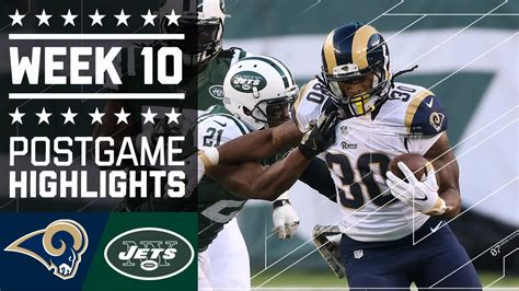 rams  jets nfl week  game highlights youtube