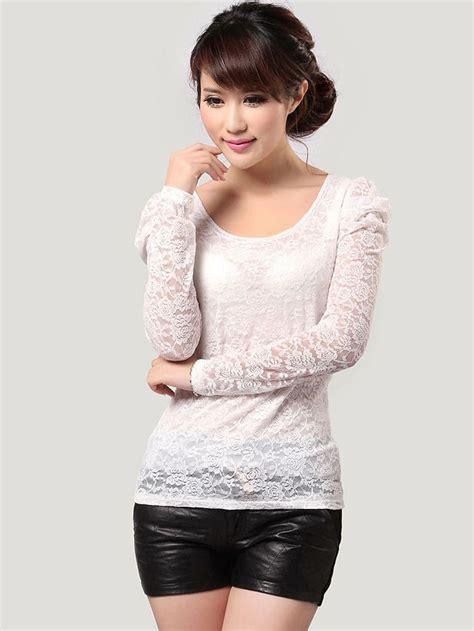 modern lady puff sleeve  neck blouse  white