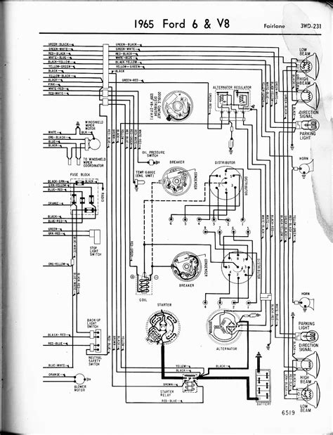 1967 Ford Galaxie Wiring Diagram Alternator by 57 65 Ford Wiring Diagrams