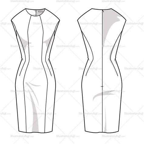 dress template s sheath dress fashion flat template illustrator stuff