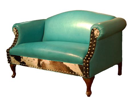 albuquerque turquoise leather settee western passion