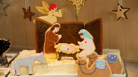 gingerbread nativity creche