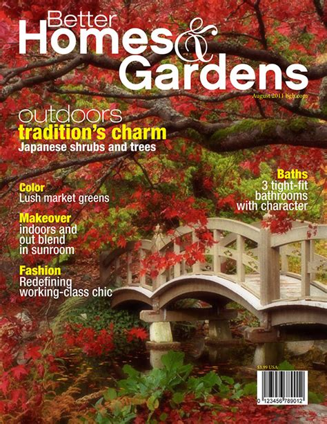better homes and gardens magazine covers on behance