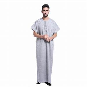 Muslim Islamic Clothing for men Arabia Embroidery abaya ...