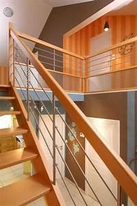 Rampe Pour Escalier : escalissime nos escaliers escaliers bois contemporains escalier bois rampe treillis ~ Melissatoandfro.com Idées de Décoration