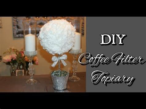 diy dollar tree coffee filter topiary under 10