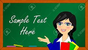 Blackboard Clipart Female English Teacher