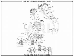 Homelite Ry60511a Gas Cultivator Parts Diagram For General Assembly  Part 1