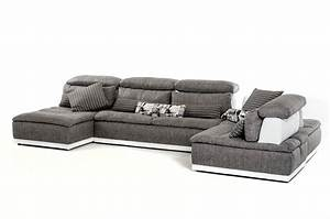 made in italy grey fabric and white leather sectional sofa With sectional sofas el paso