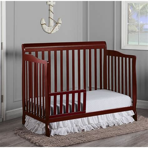 on me ashton 4 in 1 convertible crib on me ashton convertible 5 in 1 crib in cherry 660 c