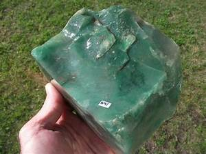 Rough Rock - TRANSLUCENT GREEN CHALCEDONY was sold for R45 ...