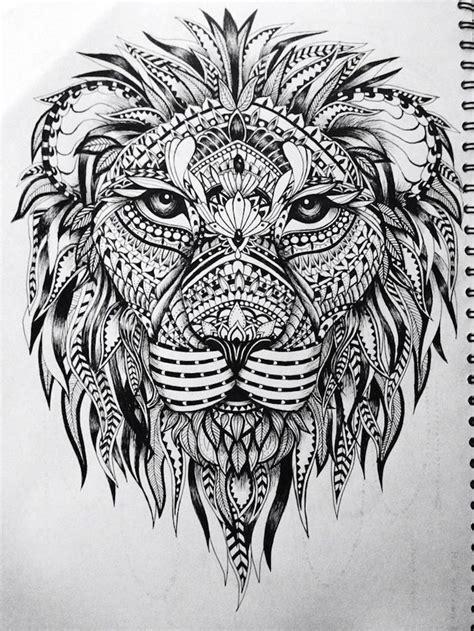 coole loewen tattoo ideen zur inspiration mandala