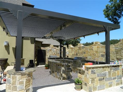 louvered patio covers dallas arcadia louvered roof installed units modern patio