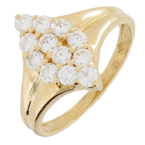 bague marquise diamants 0 72 carat en or jaune occasion