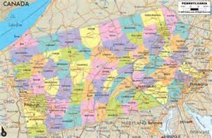 Pennsylvania County Road Map