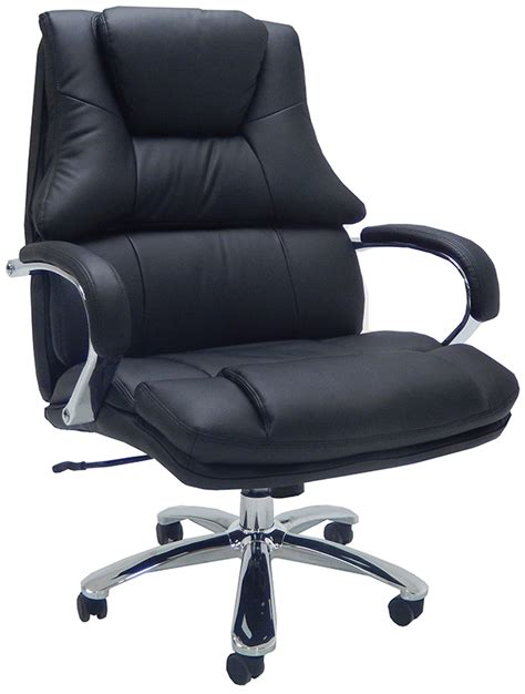 wide 500 lbs capacity leather desk chair w 28 quot w seat