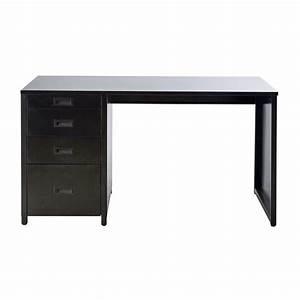 Schreibtisch 140 Cm : schreibtisch aus metall schwarz l 140 cm loft maisons du monde ~ Indierocktalk.com Haus und Dekorationen