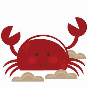 Cute Crab SVG cut file for scrapbooking crab svg cut file ...