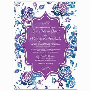 19 awesome royal blue and purple wedding invitations With royal blue and lavender wedding invitations