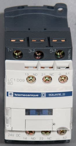 new telemecanique square d lc1 d09 3 pole contactor 25a asm pn 44 106290a54 used second