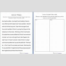 Free Grammar Practice Sheet Quotation Marks, Saidasked Words  Homeschool Den