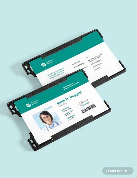 hospital id card template ad affiliate id