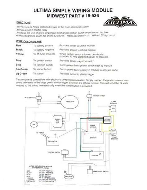 Ultima Ignition Wiring Diagram by Harley Ignition Module Wiring Harness Wiring Diagrams
