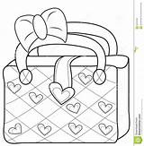 Coloring Bag Purse Handbag Pages Ladies Template Useful Illustration 33kb 1269 1300px sketch template