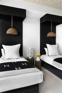 Lits Jumeaux Adultes : la t te de lit originale en 46 photos chambre ~ Melissatoandfro.com Idées de Décoration