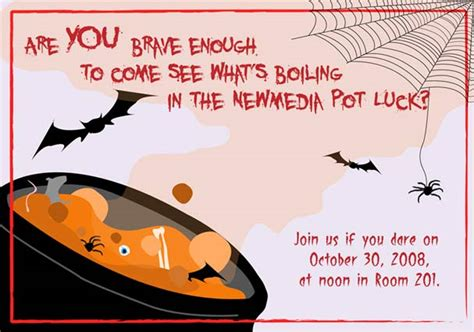 Halloween Potluck Invitation Ideas by Halloween Potluck By Sky Waves On Deviantart