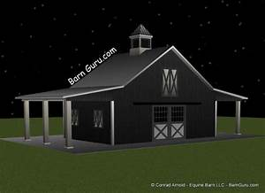3 stall horse barn plan With 4 stall horse barn cost