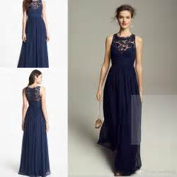 navy bridesmaid dresses wholesale navy blue bridesmaids dresses 2015 cheap chiffon neck lace bridesmaid