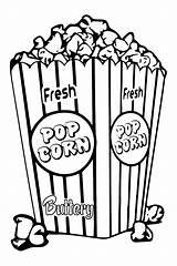Popcorn Corn Coloring Box Drawing Tlc Clipart Outline Drawn Pages Bucket Svg Boxes Template Create Pop Saturday Sheets Snack Createwithtlc sketch template