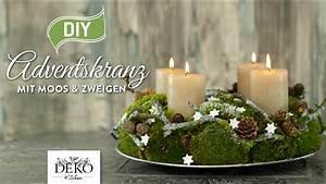 Basteln Mit Moos : diy adventskranz aus naturmaterial mit moos zweigen how to deko kitchen youtube ~ Watch28wear.com Haus und Dekorationen