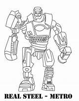 Coloring Steel Pages Printable Metro Atom Boy Dad American Robot Getcolorings Sketch Template Colorin sketch template