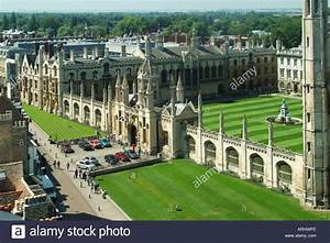 Cambridge university town looking down on part of the ...