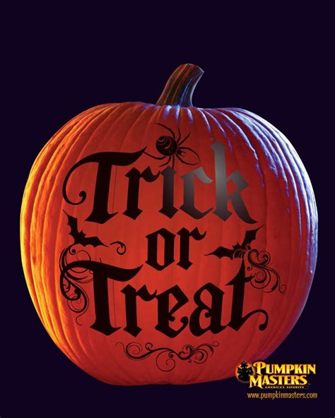 Trick Or Treat Pumpkin Carving Templates Free by Quot Trick Or Treat Quot Pattern From The Pumpkin Masters