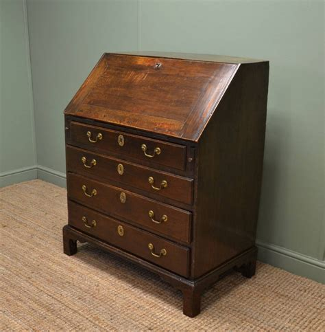 the bureau early georgian oak country antique bureau 258618
