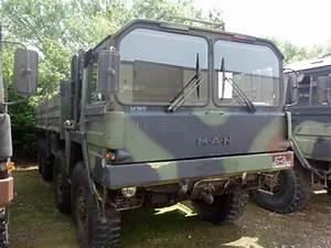 MAN 464 8x8 Drop Side Cargo Truck side loader for sale
