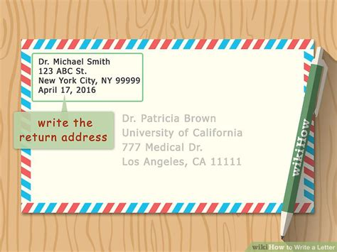send a letter 3 ways to write a letter wikihow