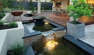 bassin de jardin 25 idees pour rafraichir votre exterieur With terrasse bois avec bassin
