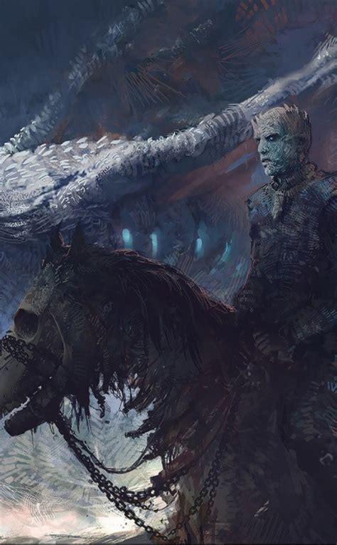 game  thrones  white walker  ice dragon art full hd
