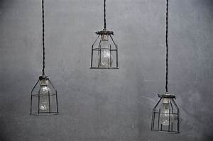 Industrial open cage hanging pendants factory