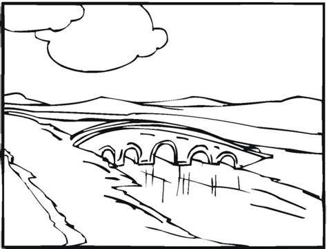 Adult Detailed Coloring Pages Scenery Landscapes