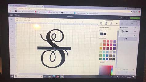 creating  split letter monogram  cricut design space youtube