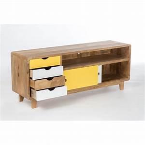 Meuble Rangement Scandinave : meuble tv design scandinave ~ Teatrodelosmanantiales.com Idées de Décoration