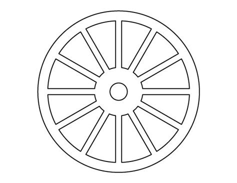 wheel pattern   printable outline  crafts