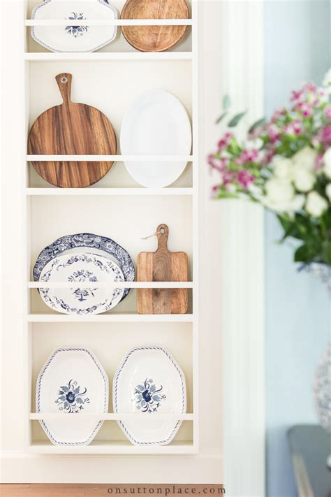 wall plate rack  minute decorating  sutton place