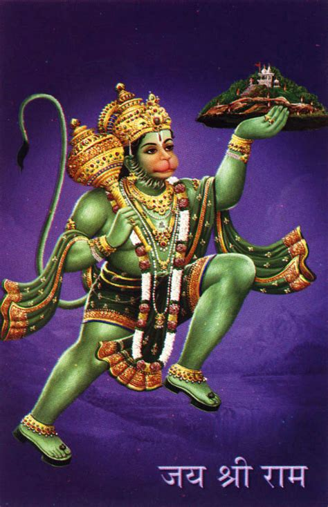 lord hanuman carrying sanjivini mountain